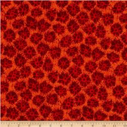 African Inspirations Flowers Red Fabric