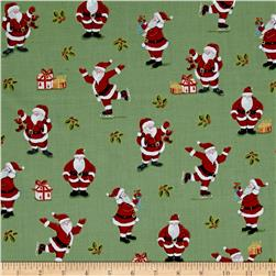 Metallic Christmas Santa Metallic Green