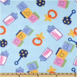 Novelty Fleece ABC Blue