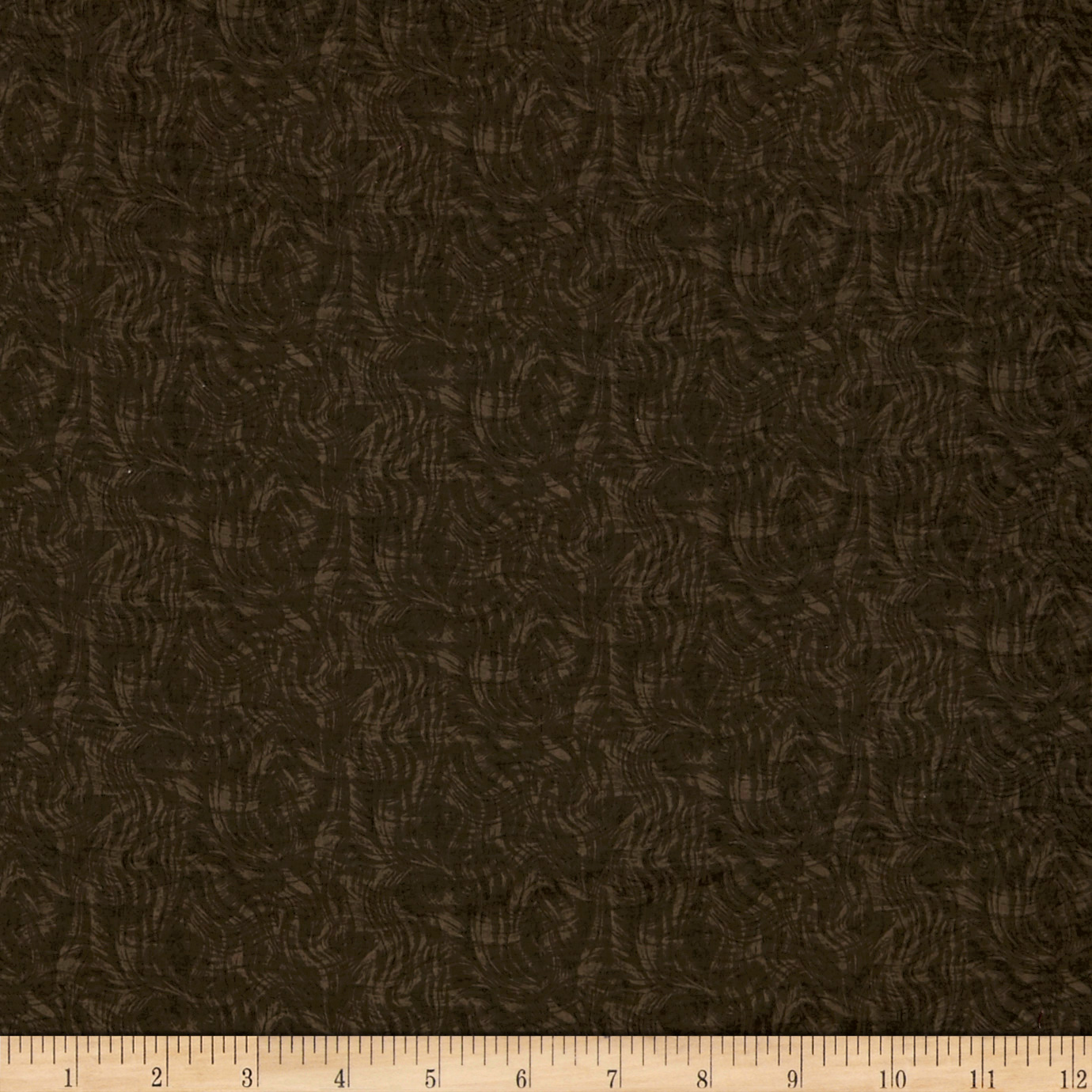 Impressions Moire Ii Dark Brown Fabric