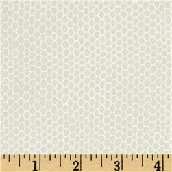 Shimmer Metallic Small Honeycomb Ivory