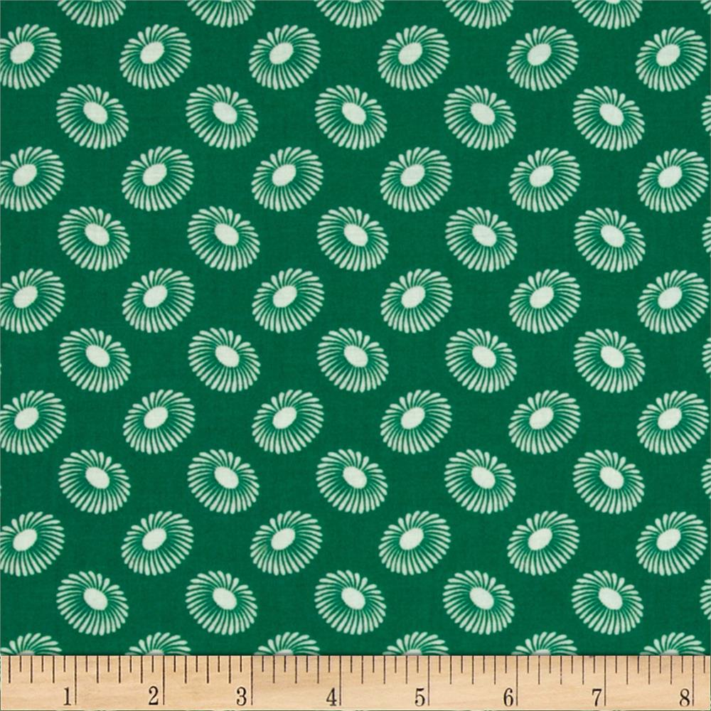 Retro Flowers Green