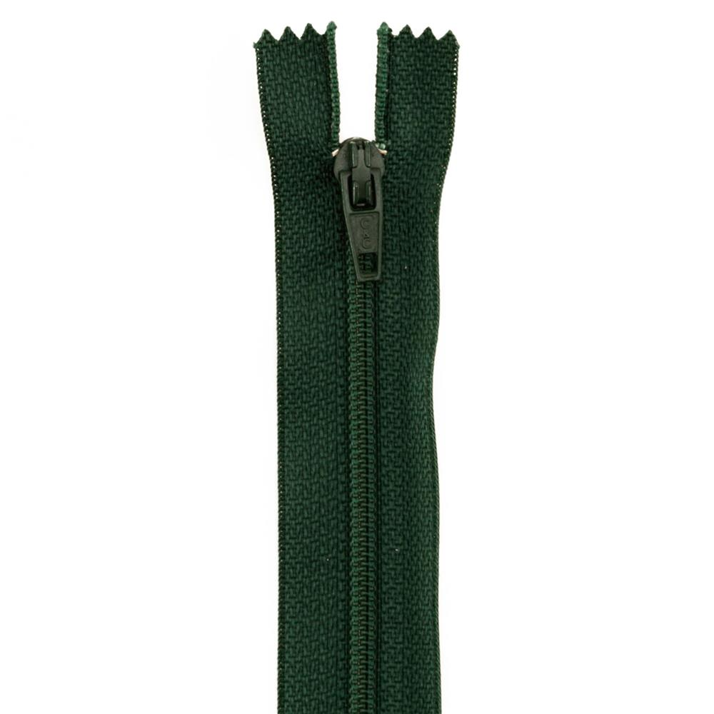 22'' Poly All Purpose Zipper Forest Green