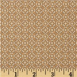 Spice Palette Cinnamon & Honey Tile Tan Fabric