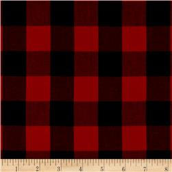 "Kaufman 1"" Carolina Gingham Scarlet"