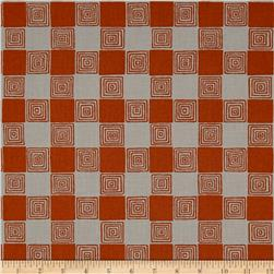Kaufman Figment Geo Squares Russet