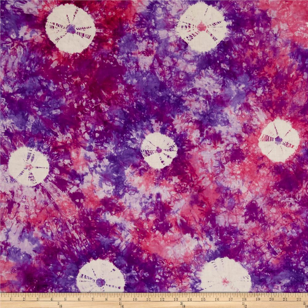 Indian Batik Wind Cave Tie Dye Purple/Pink