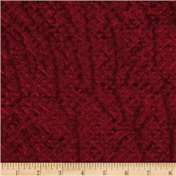 Diamond Stretch Velvet Knit Red