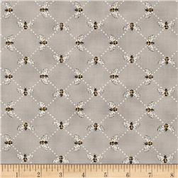 Moda Bee Inspired Bumblebee Lattice Pebble Grey