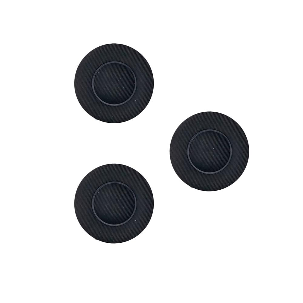 "Fashion Button 3/4"" Kianta Black"