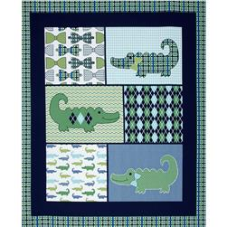 "Nursery Little Gentleman Little Gentleman's Panel-36"" Blue"