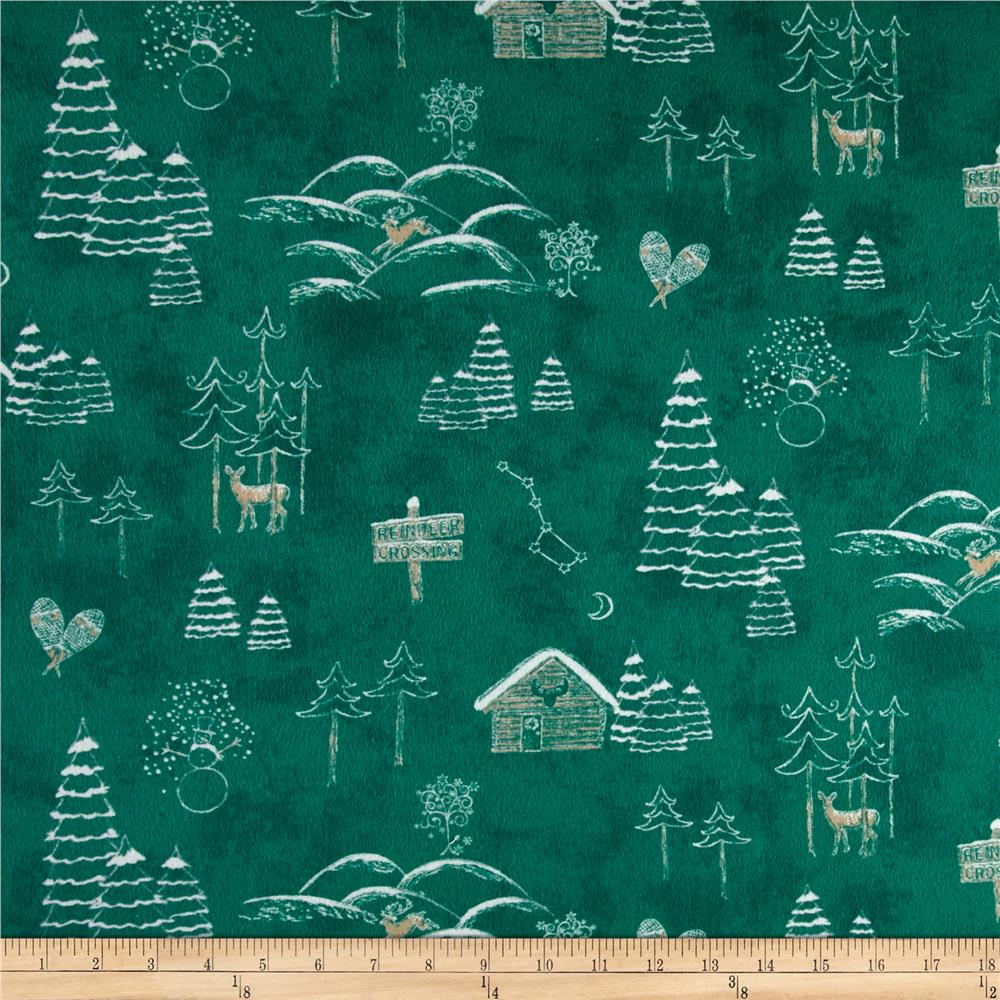 Chalk it up to Winter Flannel Scenic Green