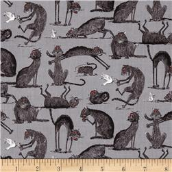 Oddities Cats Allover Grey