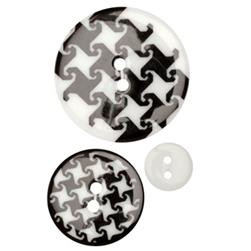 Fashion Buttons 1/2'', 1.00'', 1 3/8'' Coordinates Houndstooth