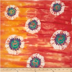 Indian Batik Tie Dye St Ashbury Coral