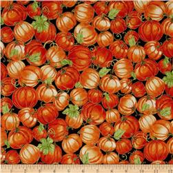 Harvest Bounty Packed Pumpkins Brown