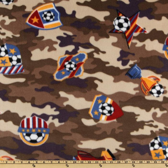 WinterFleece Soccer Camo Brown