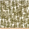 Wilderness Flannel Trees Olive
