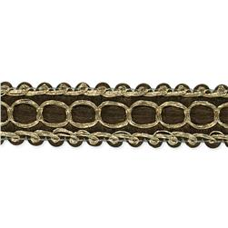 "1/2"" Novella Woven Braid Trim Roll Brown"