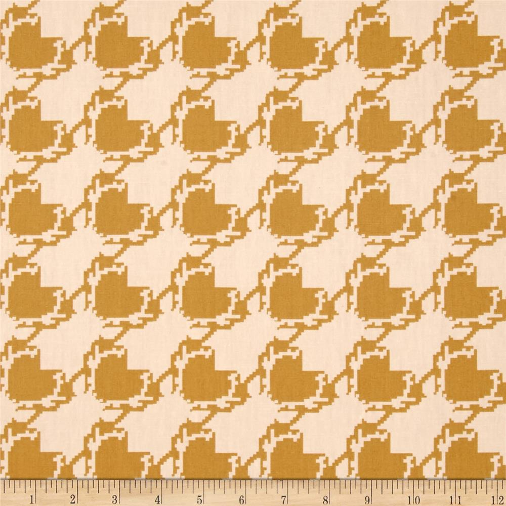 Art Gallery Blithe Deer Houndstooth Tan