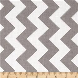 "Riley Blake 108"" Wide Medium Chevron Grey"