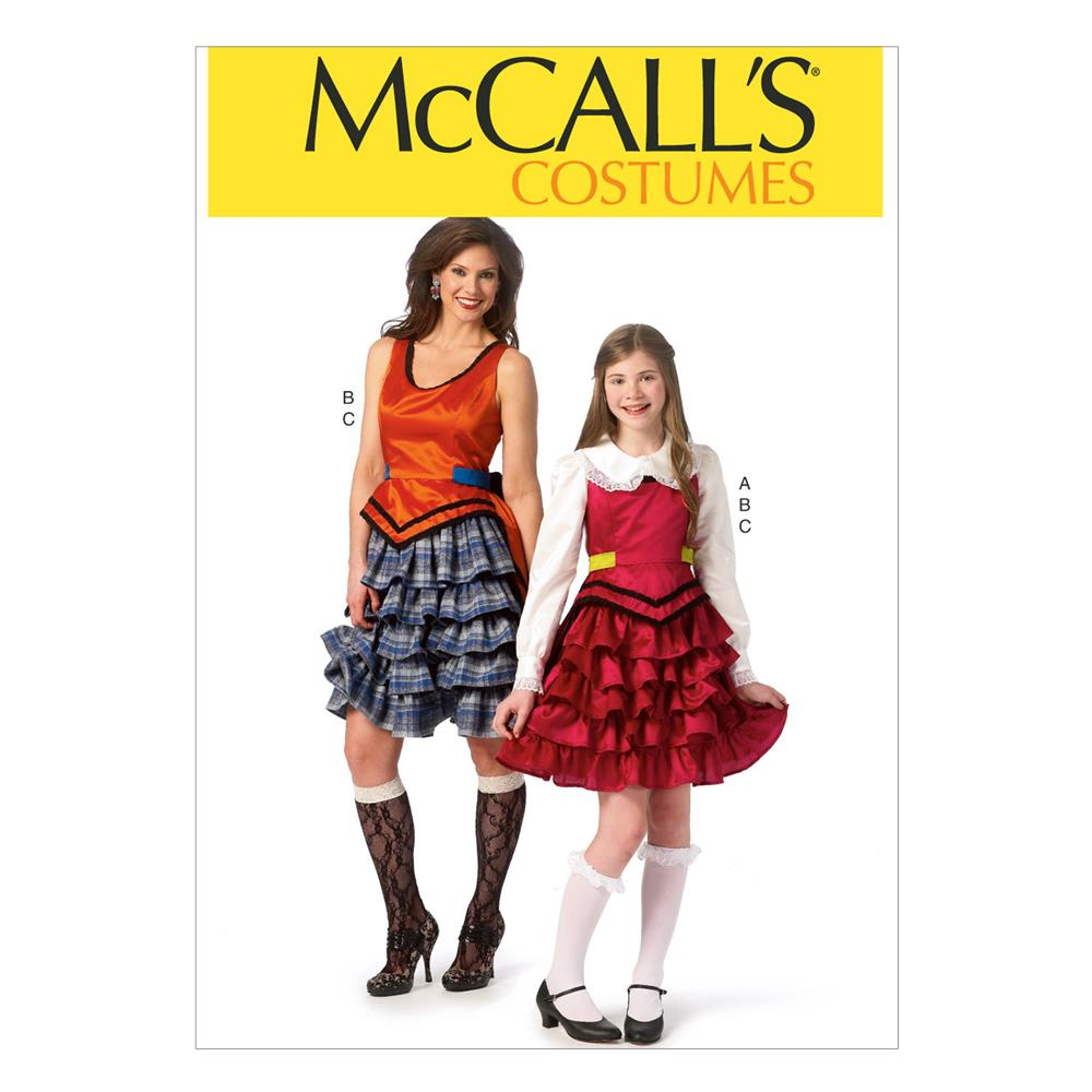 McCall's Misses'/Girls' Costumes Pattern M6999 Size GRL