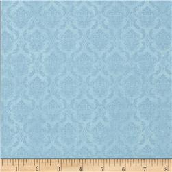 On Top of the World Damask Blue