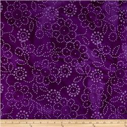 Indian Batik Hollow Ridge Floral Purple