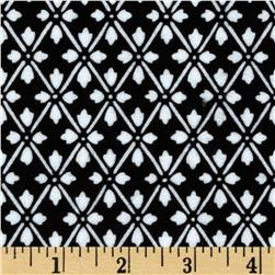 Kanvas Knitty Kitty Flannel Diamond White/Black Fabric