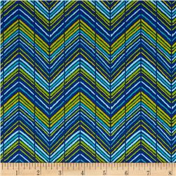 Sweet Tweet Zig Zag Blue Fabric