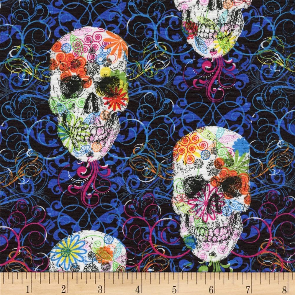 Timeless Treasures Skulls Multi
