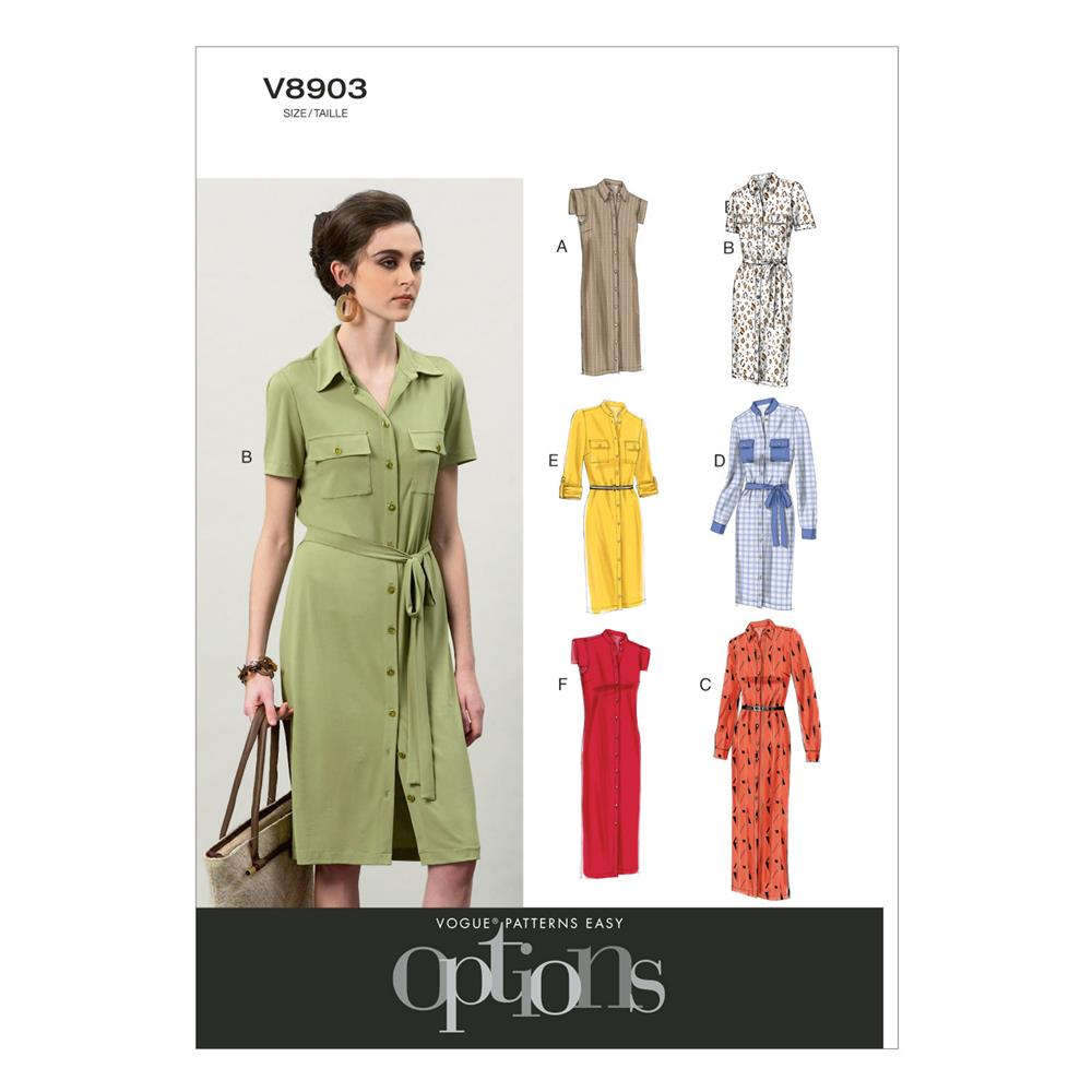 Vogue Misses' Dress and Belt Pattern V8903 Size