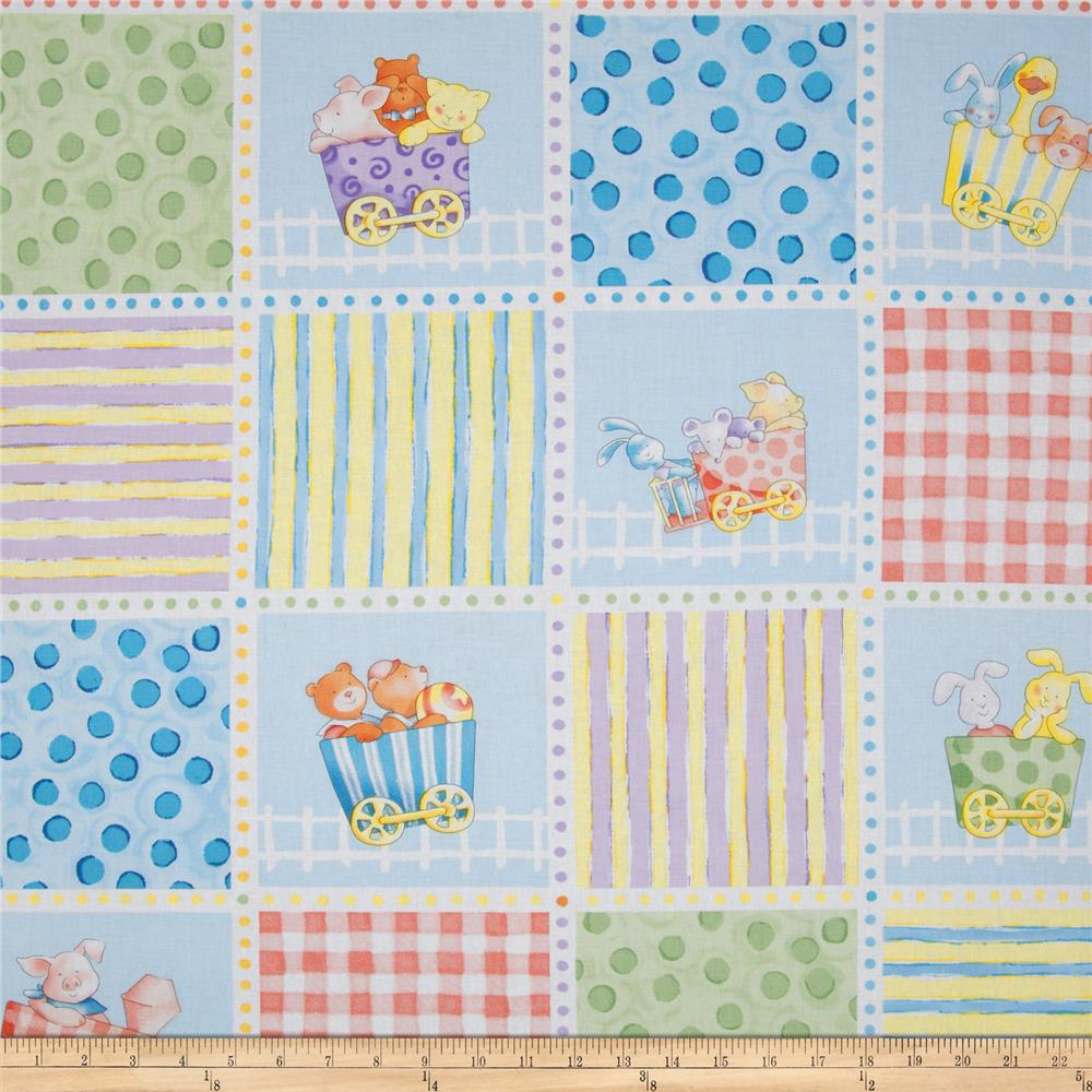 Little Train Patchwork Multi
