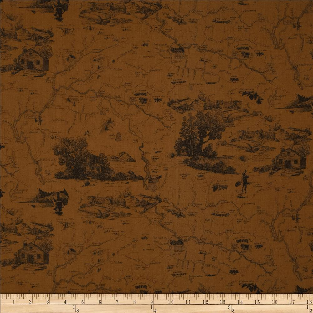 Little Rivers Tonal Toile Brown
