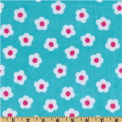 Minky Cuddle Flower Field Topaz