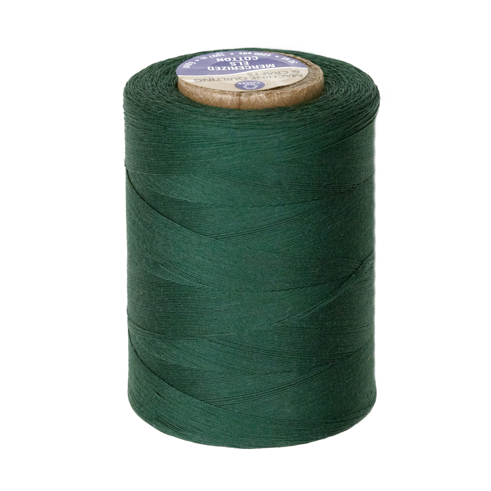 Coats & Clark Star Mercerized Cotton Quilting Thread 1200 Yd. Forest Green by Coats & Clark in USA
