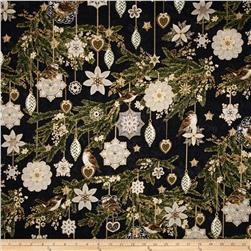 Evergreen Metallic Ornaments Black