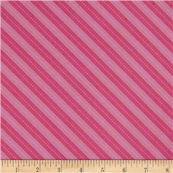 Michael Miller Up & Away Balloon Stripe Pink