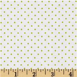 Riley Blake Swiss Dots White/Lime