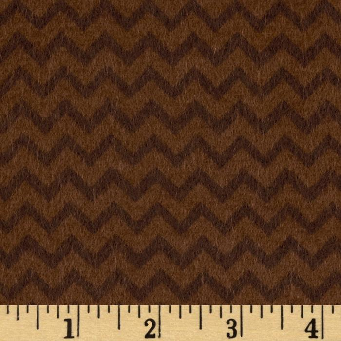 Riley Blake Camp a Lot Flannel Chevron Chocolate