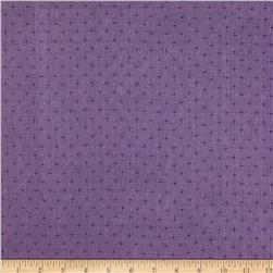 Sheer Linen Dots Purple