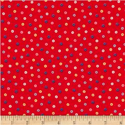 Lecien Minny Muu Tiny Flowers Red