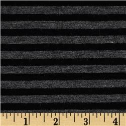 Double Face Stripe Knit Black/Charcoal Heather