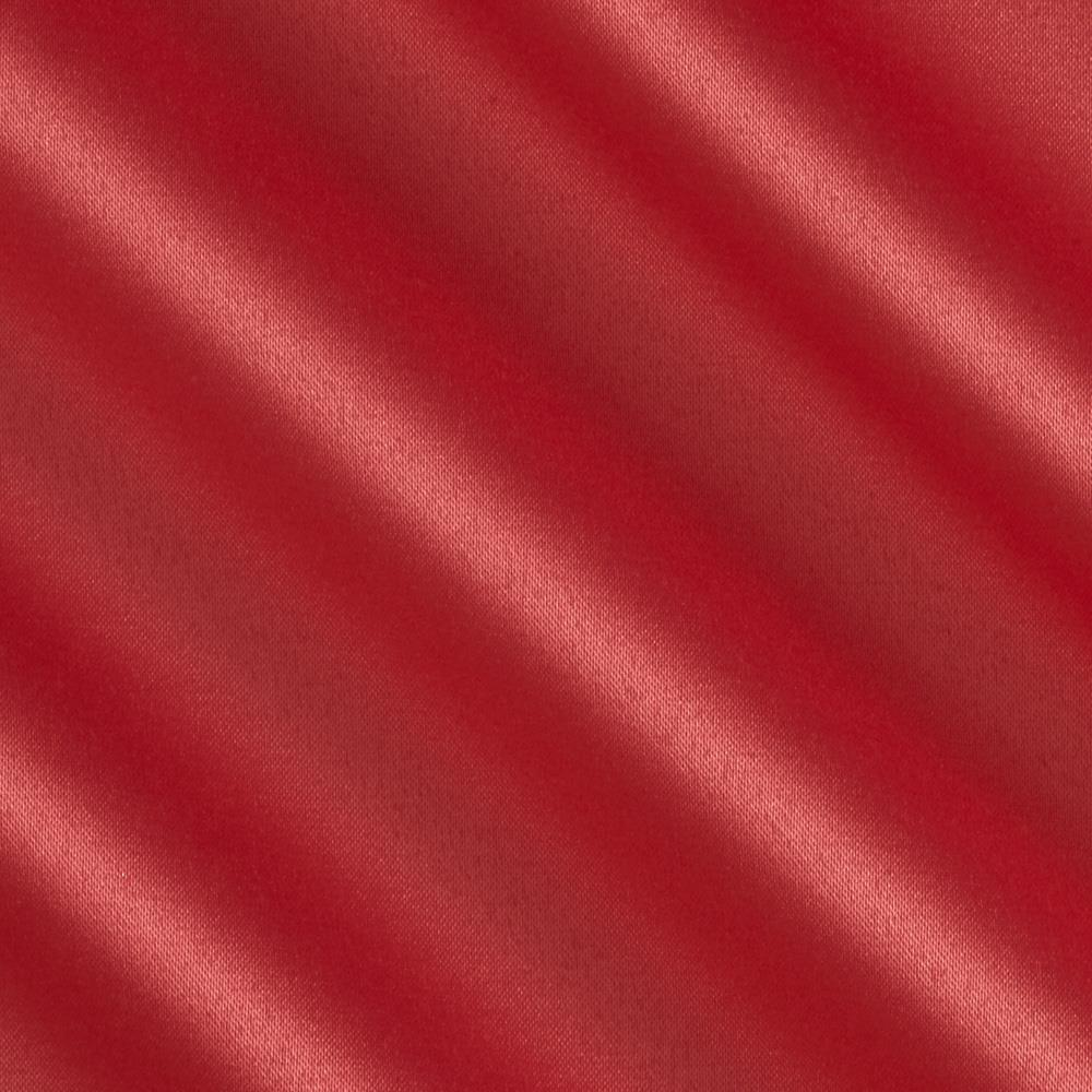 Stretch Charmeuse Satin Cool Coral