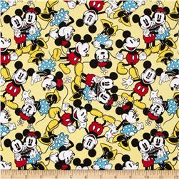 Disney Micky Mouse & Minnie Mouse Tossed Yellow