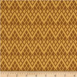 Black & Tan Chevron Trellis Marigold