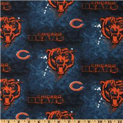 NFL Cotton Broadcloth Chicago Bears Blue Fabric