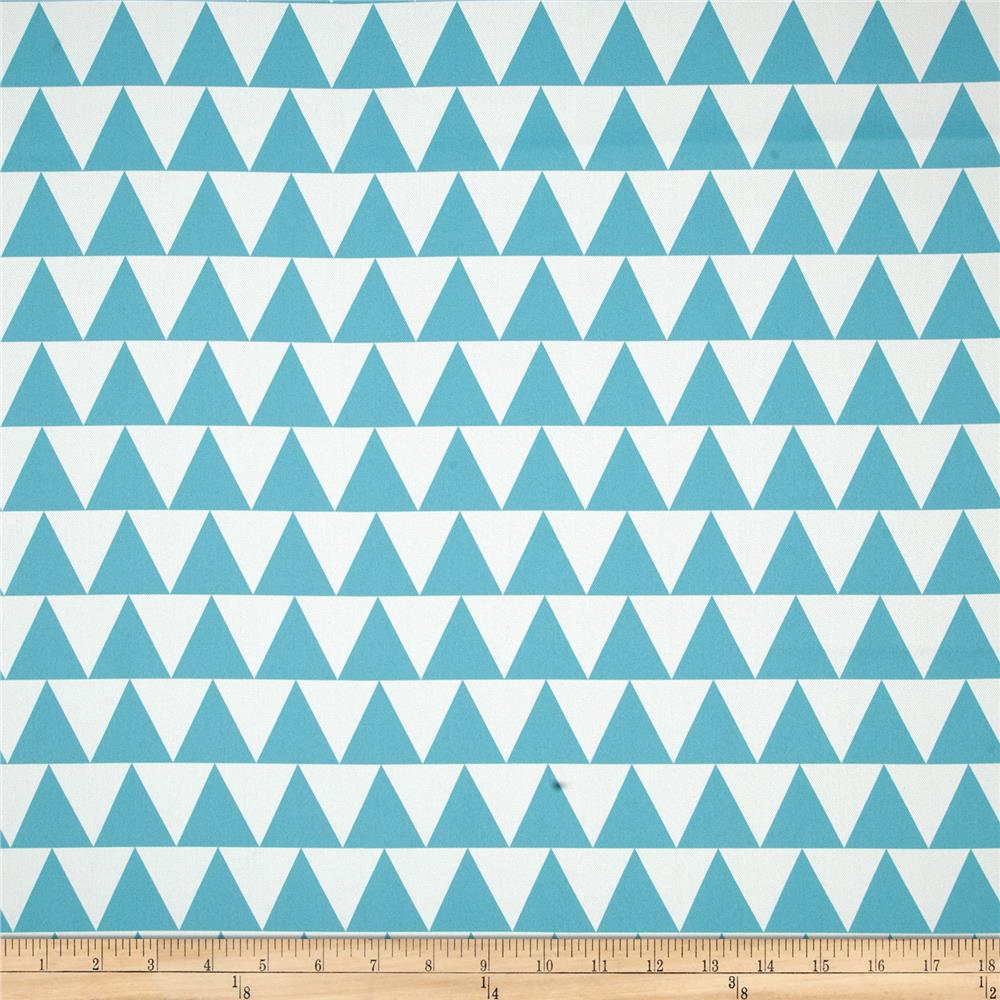 RCA Pax Triangles Blackout Drapery Fabric Capri Blue