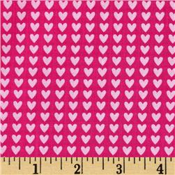 Riley Blake Sweet Home Hearts Pink Fabric