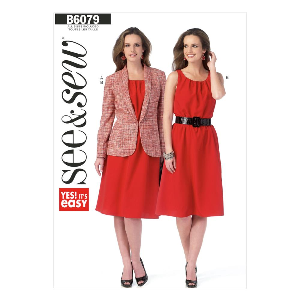 Butterick Misses' Jacket and Dress Pattern B6079 Size 0A0